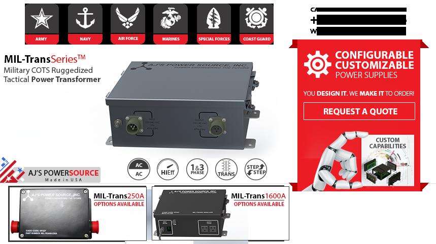 Military Power Transformer Cots Ruggedized Power Transformer