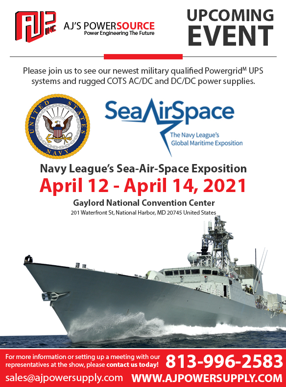 Ajs Power Souce Events, Navy Show, Sea Air Space, Ajs Power Source, Military Power Supply