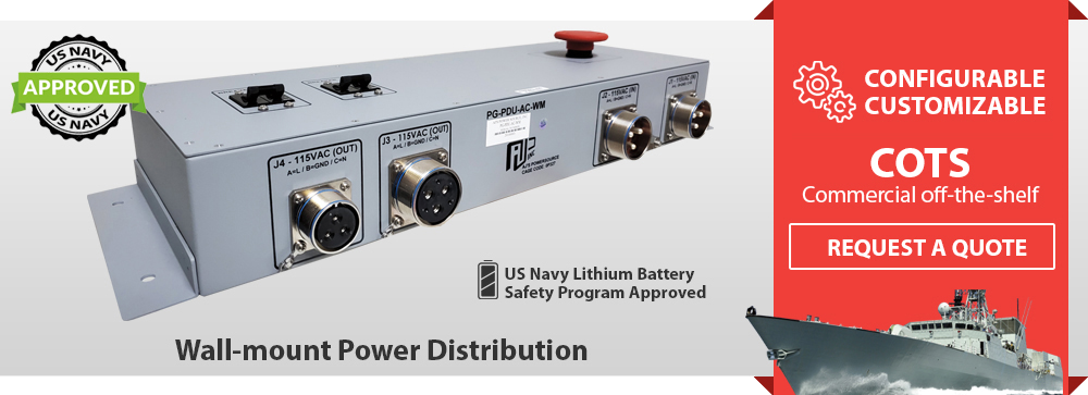 Wall-mount Power Distribution Unit | Navy Wall-mount PDU, MIL-STD-461, Wall-mount Power, Navy Power Distribution Unit, Navy Zonal Wall-mount Power